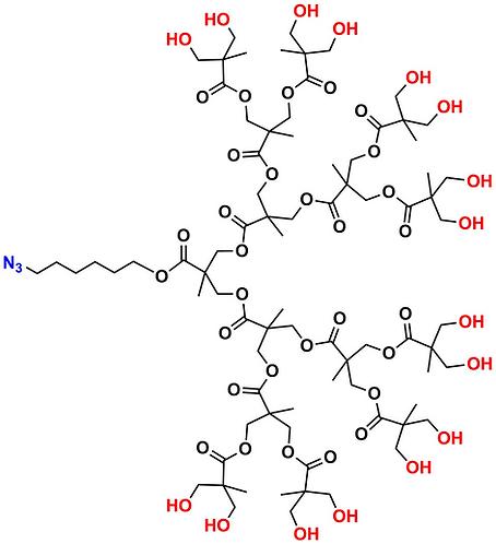 bis-MPA Hydroxyl Dendron, Azide Core, Generation 4