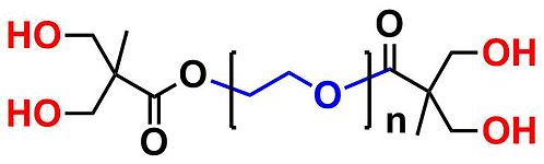bis-MPA Dendronised PEG 20k, Hydroxyl Functional, Generation 1