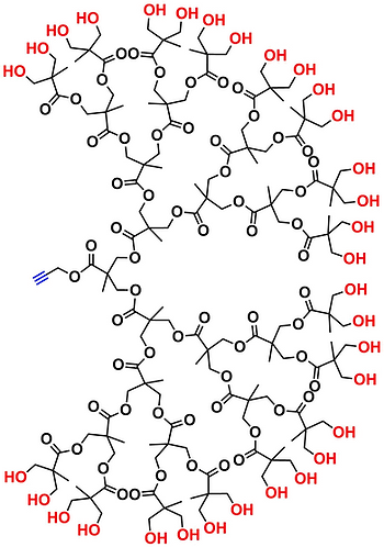 bis-MPA Hydroxyl Dendron, Acetylene Core, Generation 5