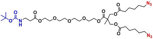 bis-MPA Azide Dendron, NH-BOC Core, Generation 1