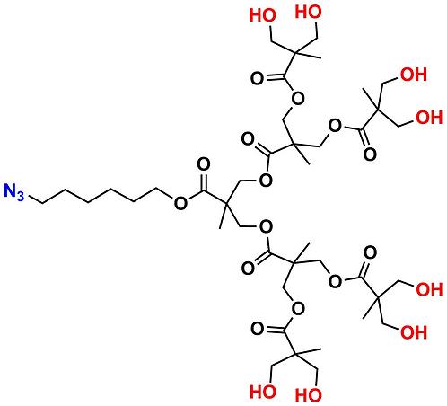 bis-MPA Hydroxyl Dendron, Azide Core, Generation 3