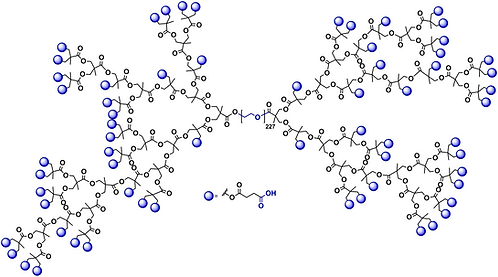 Hyperbranched bis-MPA PEG 10k, Carboxyl Functional Generation 5