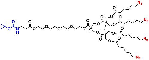 bis-MPA Azide Dendron, NH-BOC Core, Generation 2