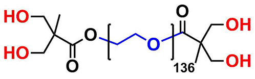 bis-MPA Dendronised PEG 6k, Hydroxyl Functional, Generation 1