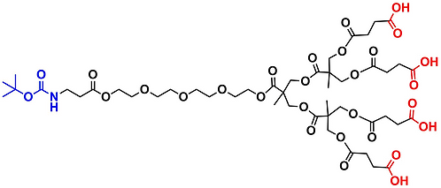 bis-MPA Carboxyl Dendron, NH-BOC Core, Generation 2
