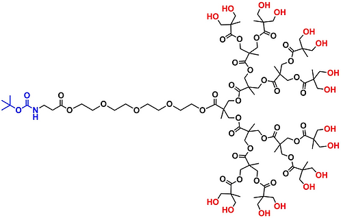 bis-MPA Hydroxyl Dendron, NH-BOC Core, Generation 4