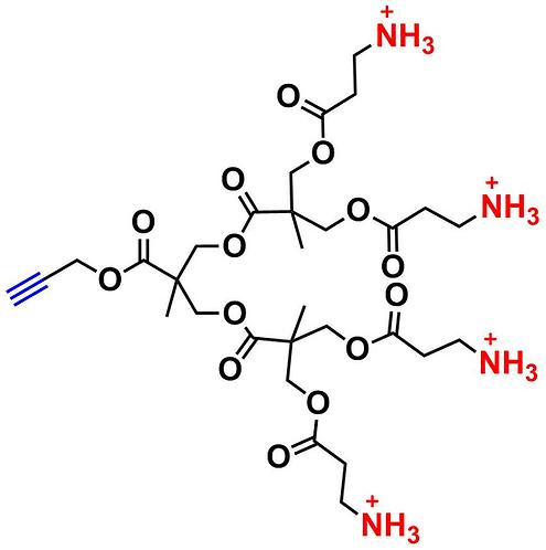 bis-MPA Ammonium Dendron, Acetylene Core, Generation 2