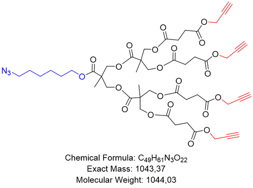 bis-MPA Azide Dendron, Acetylene Core, Generation 2