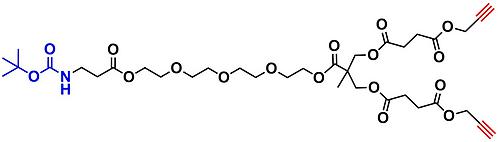 bis-MPA Acetylene Dendron, NH-BOC Core, Generation 1