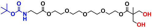 bis-MPA Hydroxyl Dendron, NH-BOC Core, Generation 1