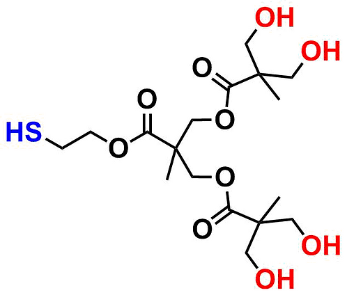 bis-MPA Hydroxyl Dendron, Thiol Core, Generation 2
