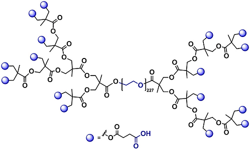 Hyperbranched bis-MPA PEG 10k, Carboxyl Functional Generation 3