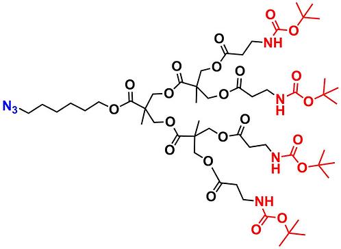 bis-MPA NHBoc Dendron, Azide Core, Generation 2
