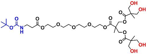bis-MPA Hydroxyl Dendron, NH-BOC Core, Generation 2