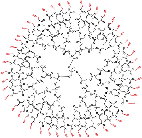 Bis-MPA Acetylene Dendrimer, Generation 4, TMP Core