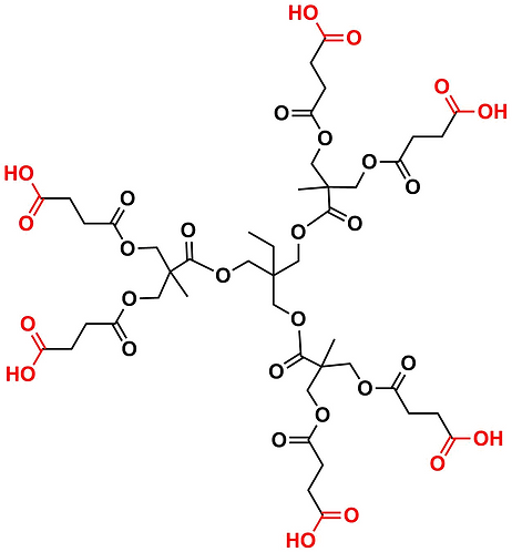 Bis-MPA Carboxyl Dendrimer, Generation 1, TMP Core