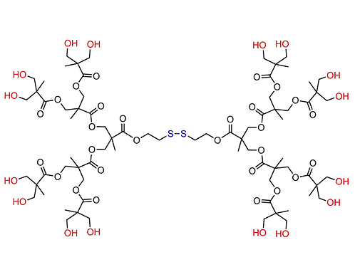 Bis-MPA Hydroxyl Dendrimer, Generation 3, Disulfide Core