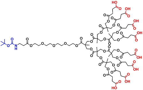 bis-MPA Carboxyl Dendron, NH-BOC Core, Generation 3