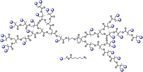 Hyperbranched bis-MPA PEG 10k, Azide Functional Generation 4