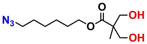 bis-MPA Hydroxyl Dendron, Azide Core, Generation 1