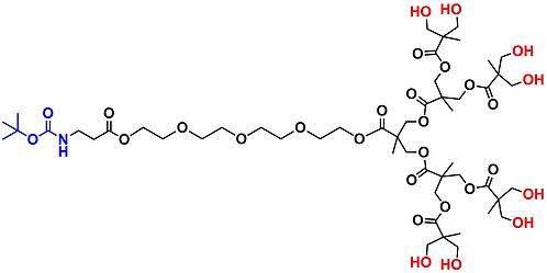 bis-MPA Hydroxyl Dendron, NH-BOC Core, Generation 3