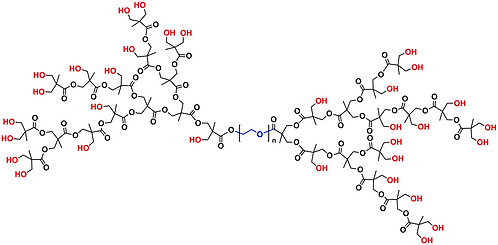 Hyperbranched bis-MPA PEG 6k, Hydroxyl Functional, Generation 4
