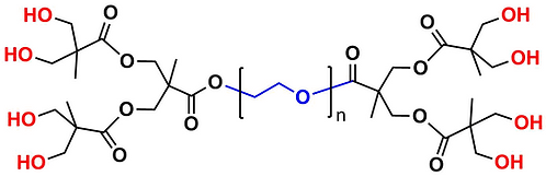 bis-MPA Dendronised PEG 20k, Hydroxyl Functional, Generation 2