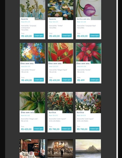 Site Loja Virtual Artista Plástica Vera Lourenco