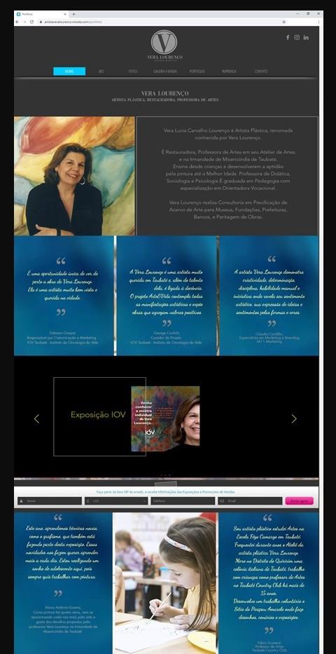 Site Artista Vera Lourenco