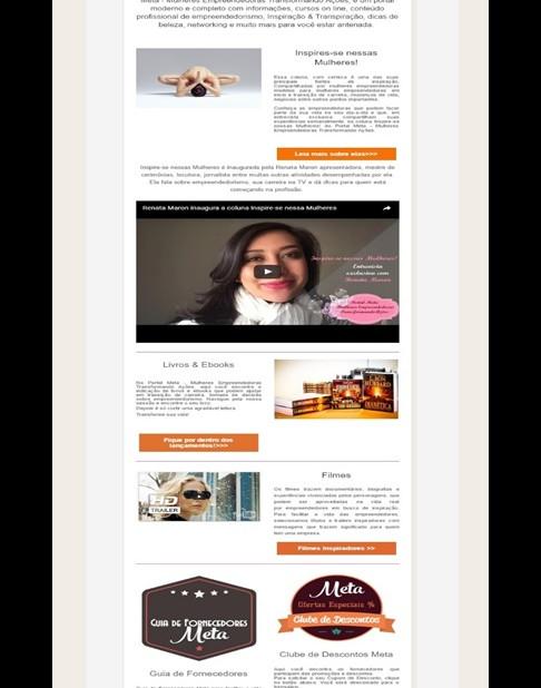 3º Email Marketing Lançamento do Portal Meta Mulheres Empreendedoras