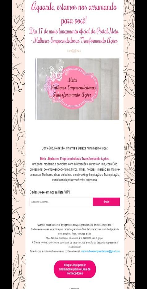2º Email Marketing Lançamento do Portal Meta Mulheres Empreendedoras