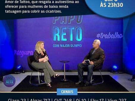 Programa Papo Reto traz Projeto Social AMOR DE TATTOO