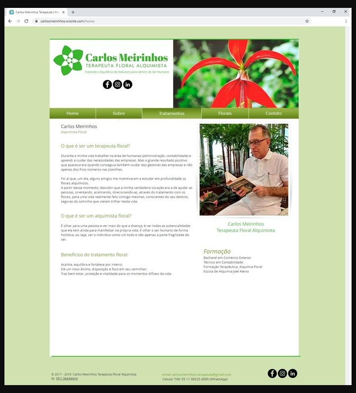 Site Carlos Meirinhos Terapeuta