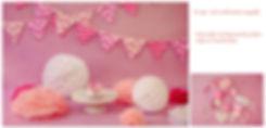 festslingers,verjaardagsslingers,feestindestudio,roze haarbandjes,