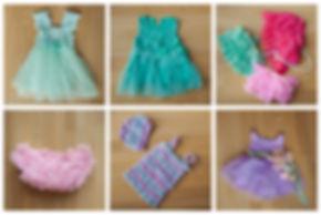 groene baby jurk,baby feest jurk,baby parel ketting,