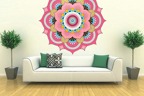 Mandala f001 decoprint uruguay decoraci n vinilos for Papel pared autoadhesivo