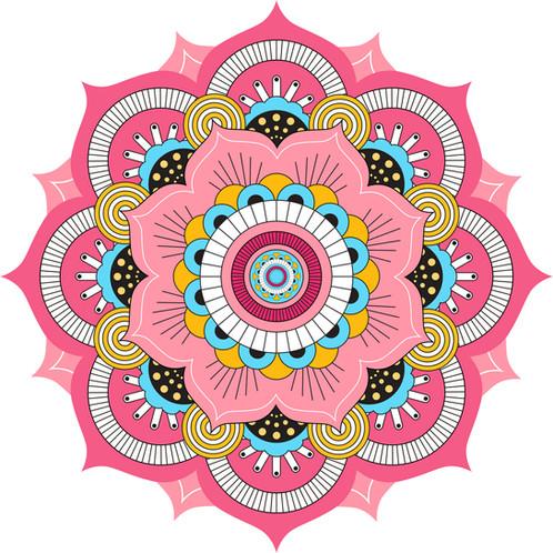 Mandala f001 decoprint uruguay decoraci n vinilos for Papel de pared para pintar