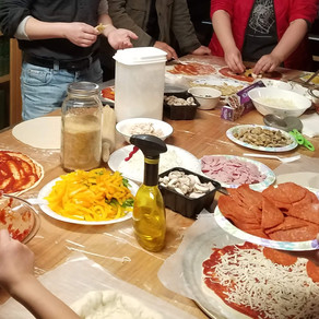 Pizza-making party