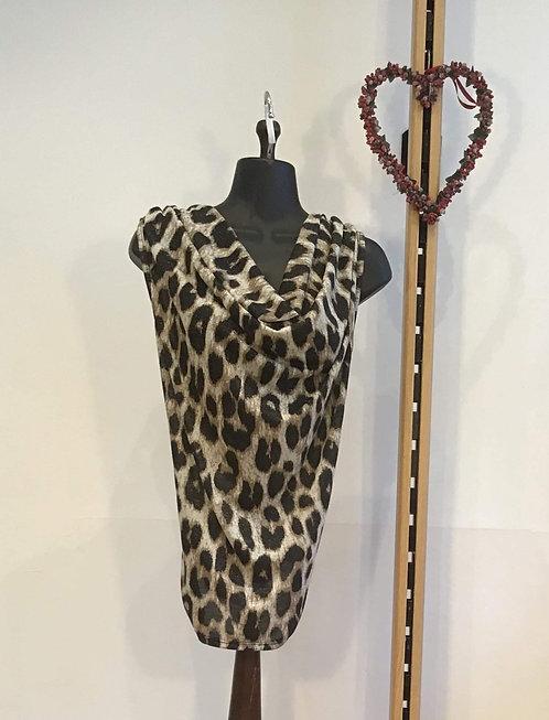 Large Print Leopard Silk Blouse
