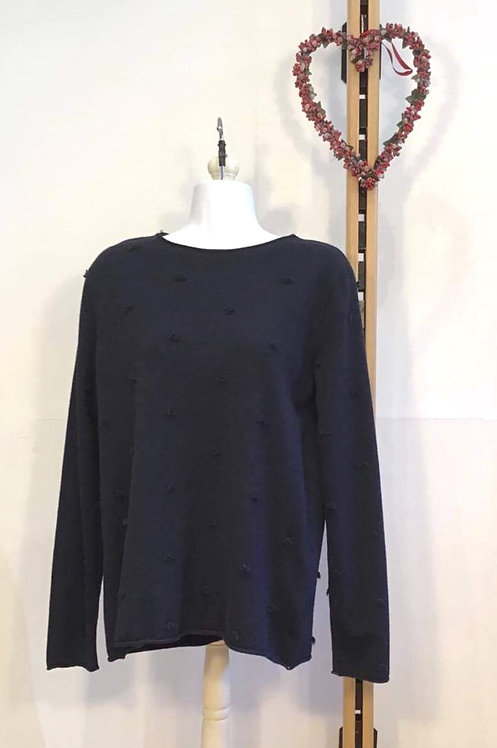 Spotty Jumper Navy