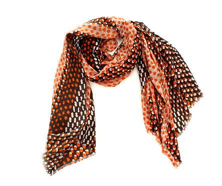 Shades of Orange and Brown Scarf