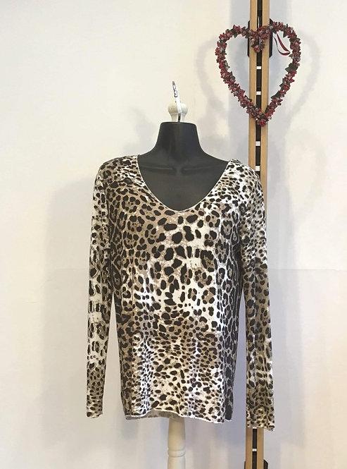 Long Sleeve Leopard Print Knit