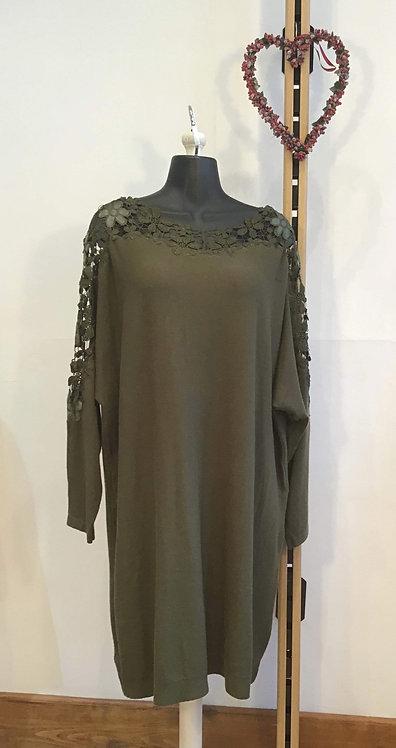 Flower Lace Dress Green