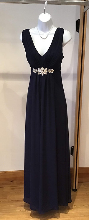 Yve Chiffon Dress Navy