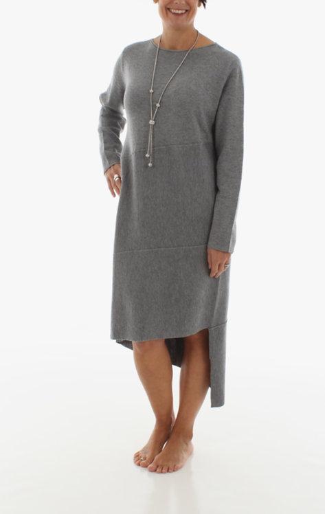 Asymmetric Dress Grey