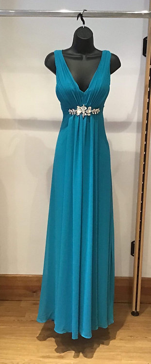 Yve Chiffon Dress Turquoise