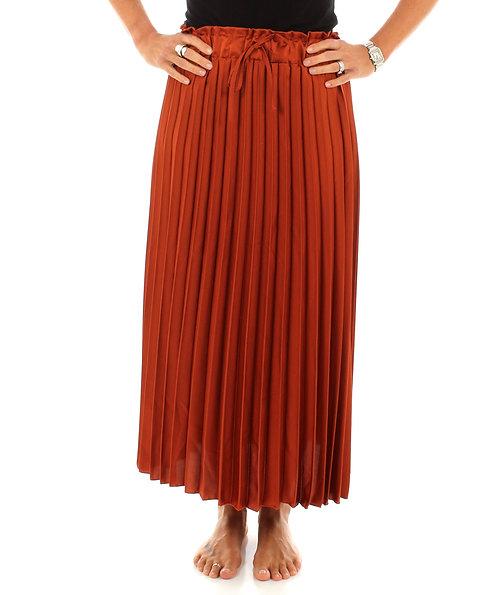 Pleated Skirt Burnt Orange