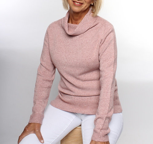 Cowl Neck Jumper Rose