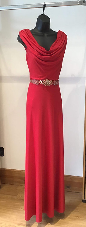 Red Backless Jersey Dress