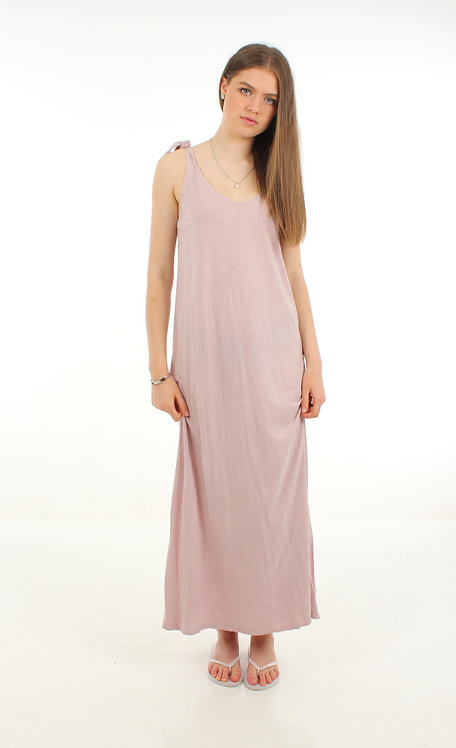Long Cotton Dress Blush